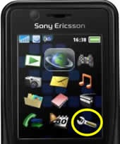 Sony Ericsson mobile phone K530i - Setting